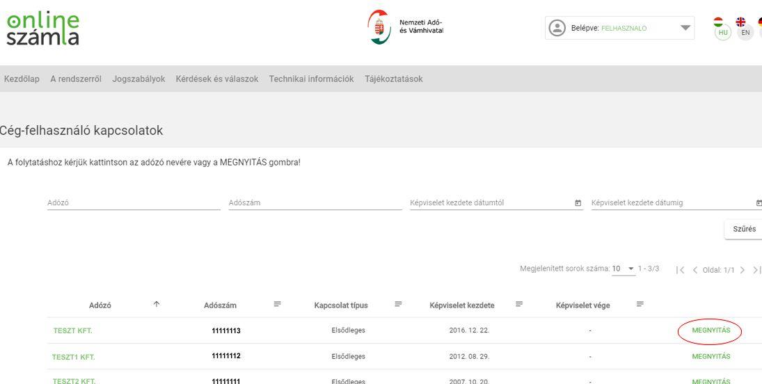 NAV Online számla regisztráció 12 lépés