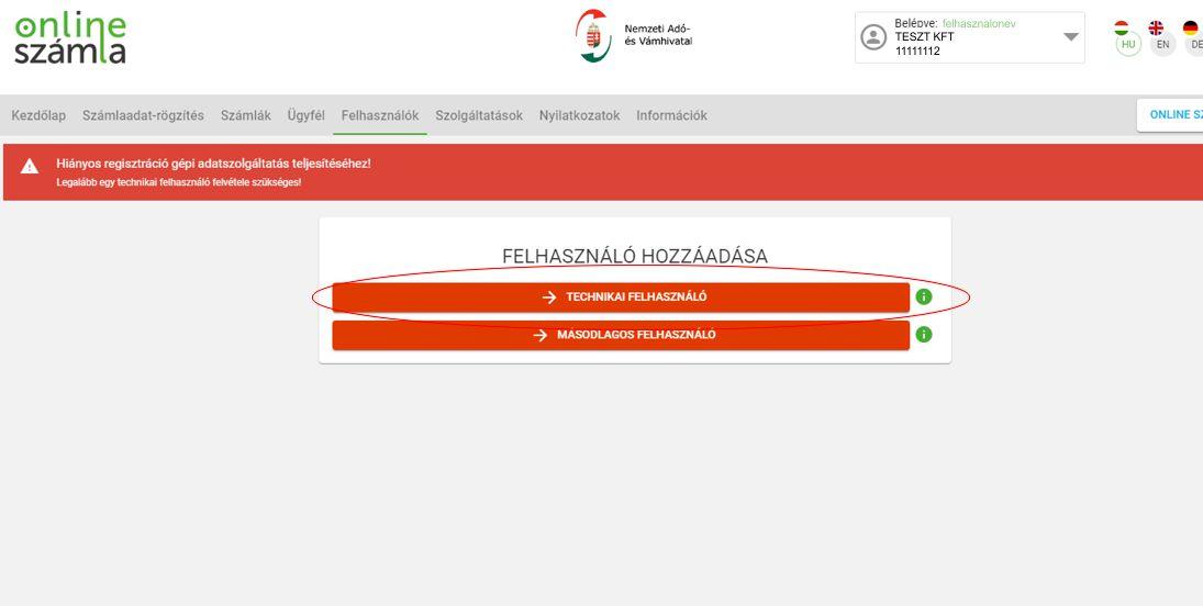 NAV Online számla regisztráció 13 lépés