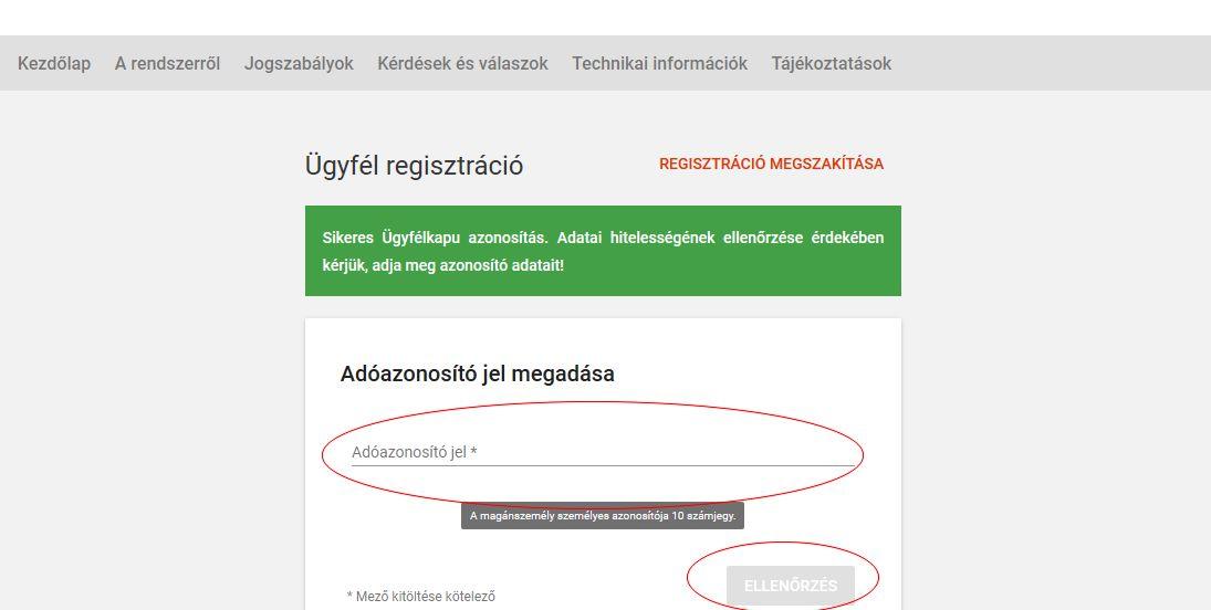 Online számla regisztráció 4 lépés