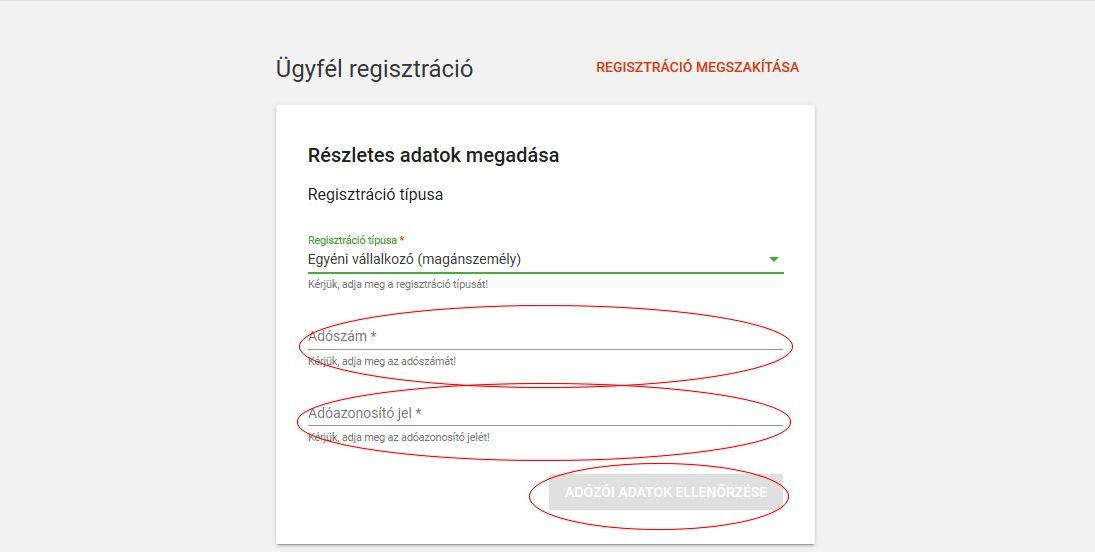 Online számla regisztráció 8 lépés