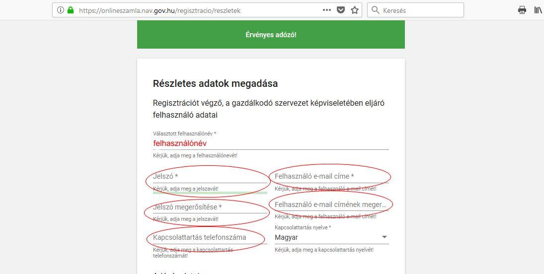 Online számla regisztráció 9 lépés